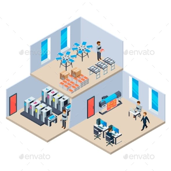 Printing House Production Industry Polygraphy