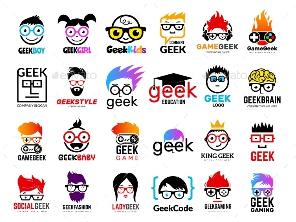 Geek Emblems - Miscellaneous Vectors