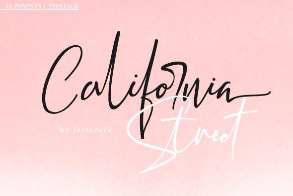 California Street - Script Fonts