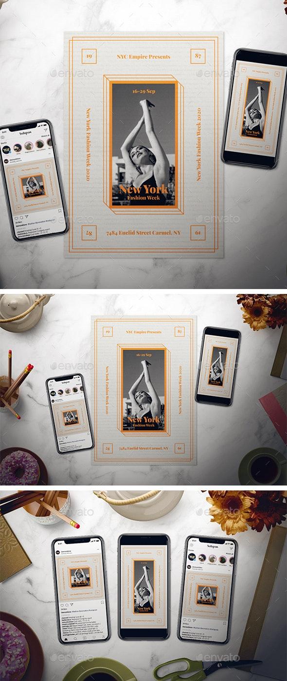Modern Fashion Week Flyer Set - Events Flyers