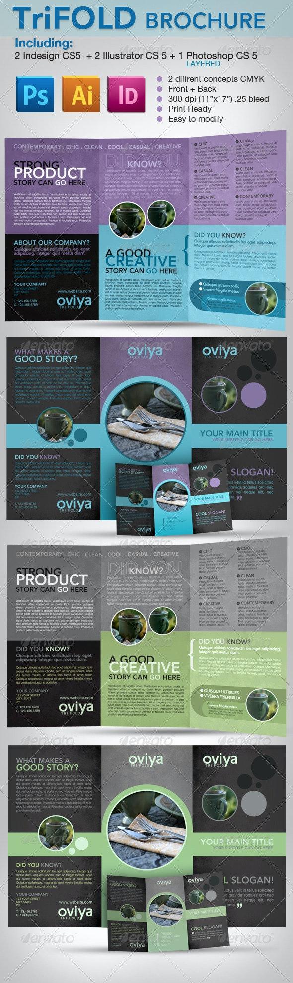 Trifold Brochure - Indesign, Illustrator & photosh - Corporate Brochures