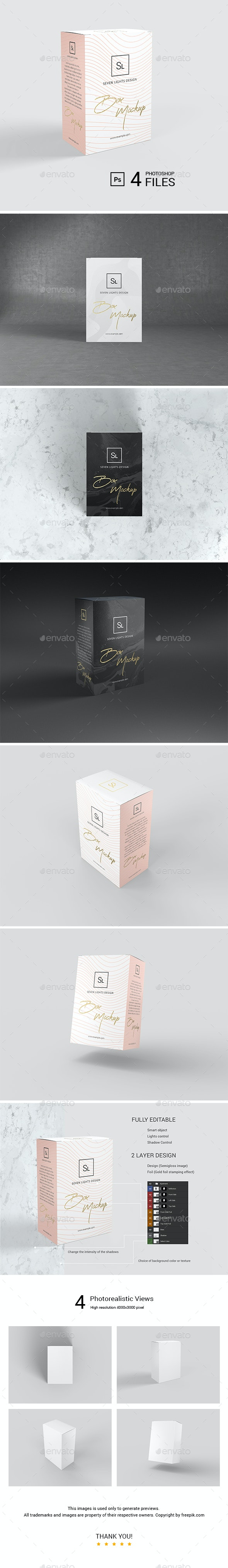 Box / Packaging Mockup - Packaging Product Mock-Ups