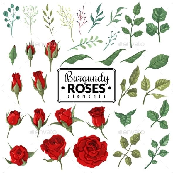 Red Roses Garden Burgundy Rose Flowers - Flowers & Plants Nature