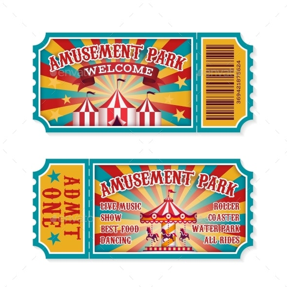 Amusement Park Ticket - Miscellaneous Vectors