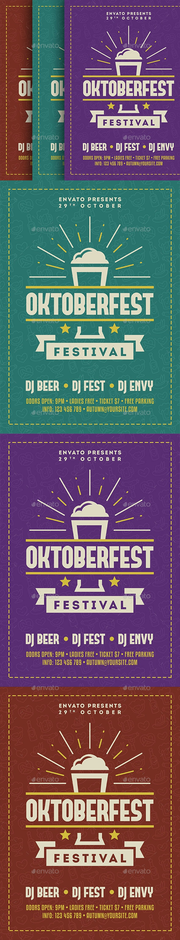 Oktoberfest Flyer - Holidays Events