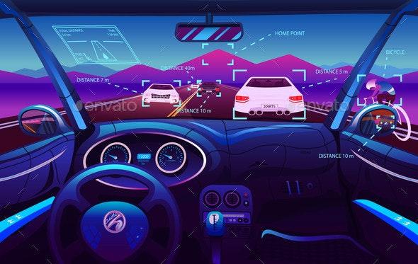 Futuristic Vehicle Salon Electric Smart Car - Computers Technology