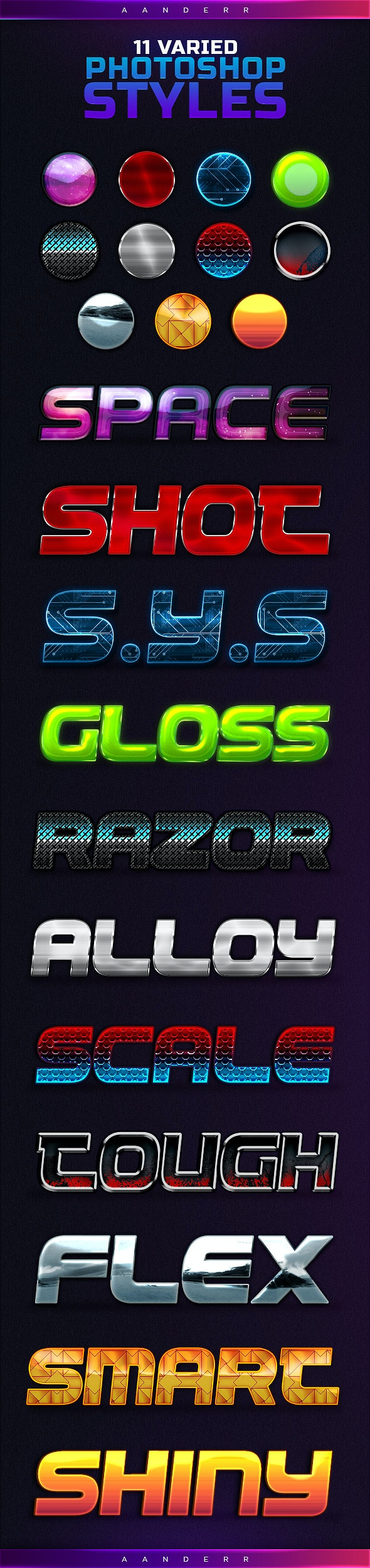 11 Varied Styles - Text Effects Styles