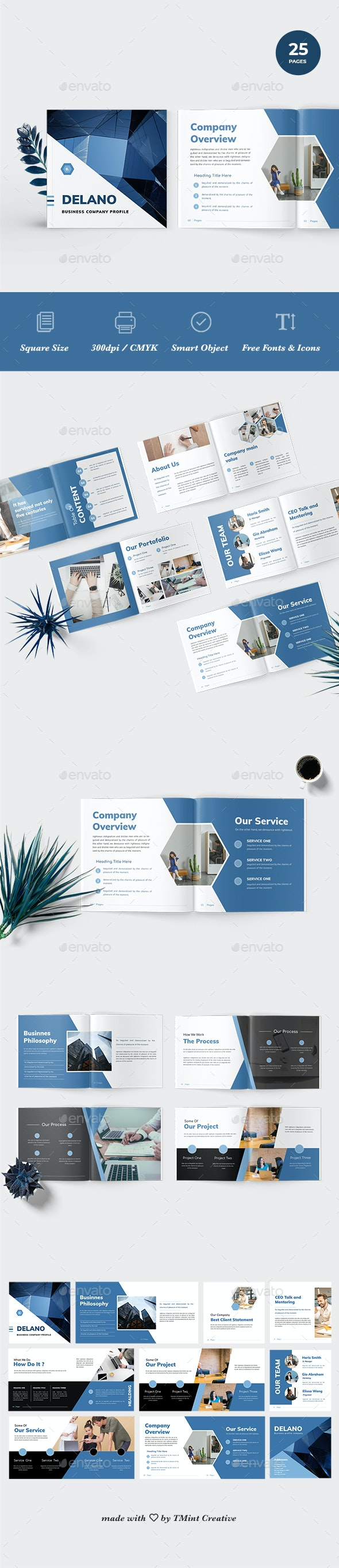 Delano - Business Portfolio Template - Corporate Brochures