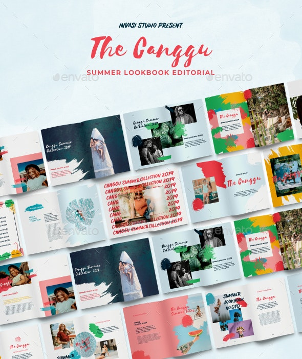 Canggu-Tropical Lookbook Editorial - Magazines Print Templates