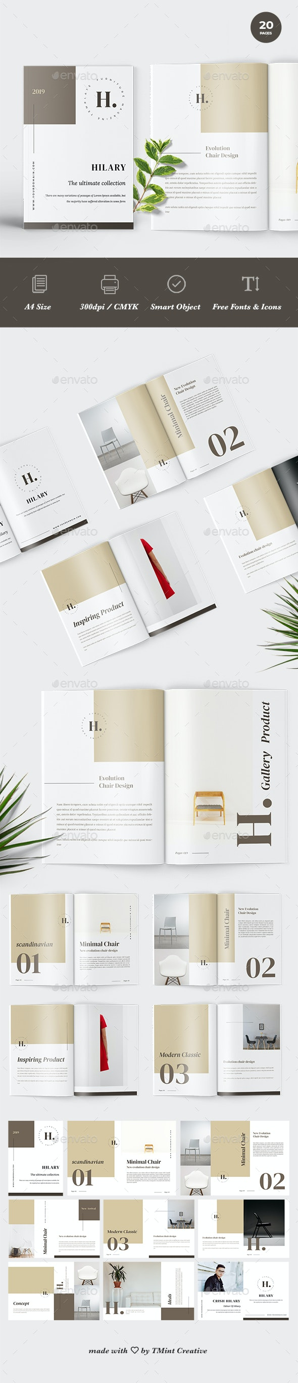 Hilary - A4 Furniture Brochure Template - Catalogs Brochures
