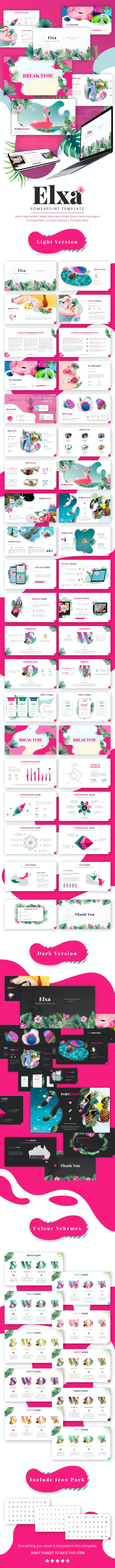 Elxa Tropical Presentation Template - Creative PowerPoint Templates