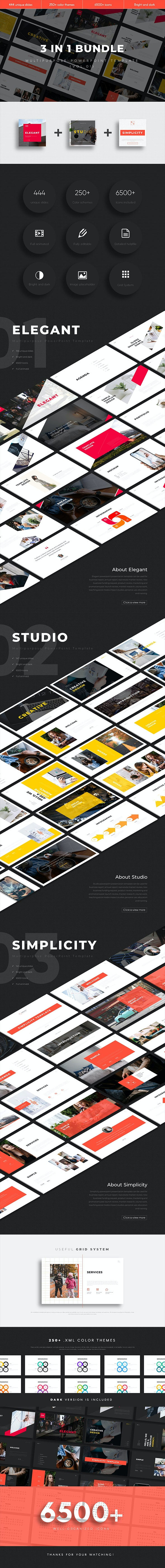 3 in 1 Multipurpose PowerPoint Template(Vol.01) - Business PowerPoint Templates
