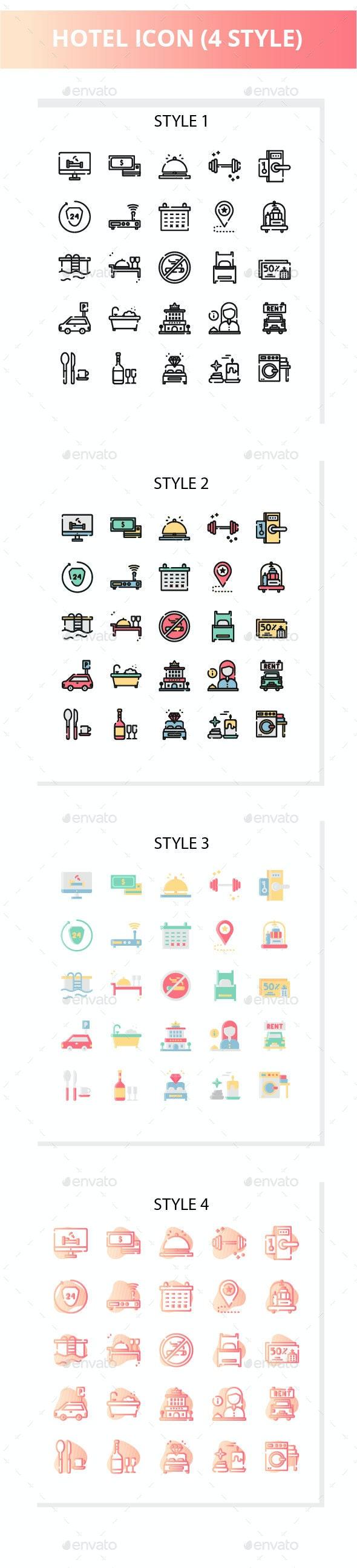 Hotel Iconset - Business Icons