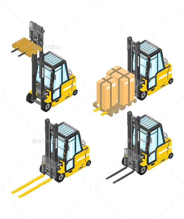 Isometric Forklift - Industries Business