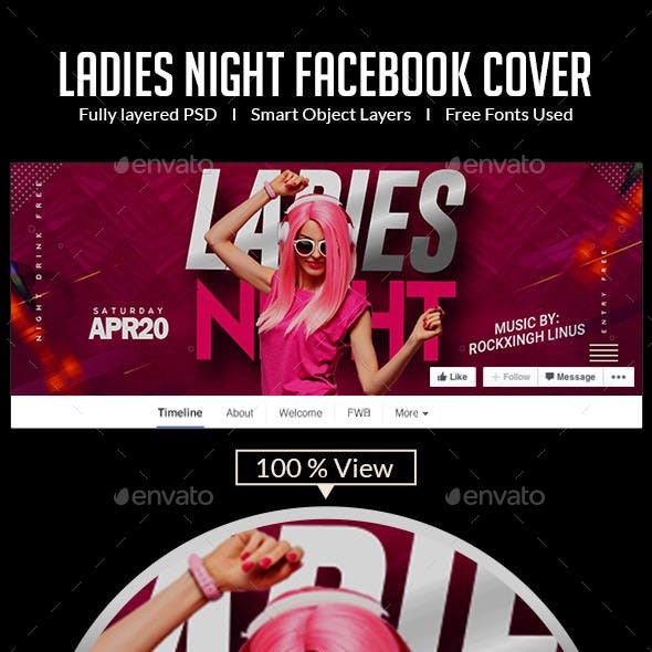 Ladies Night Out | Facebook Cover