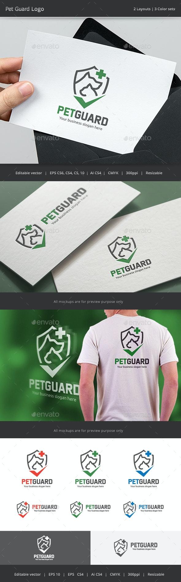 Pet Guard Logo - Animals Logo Templates