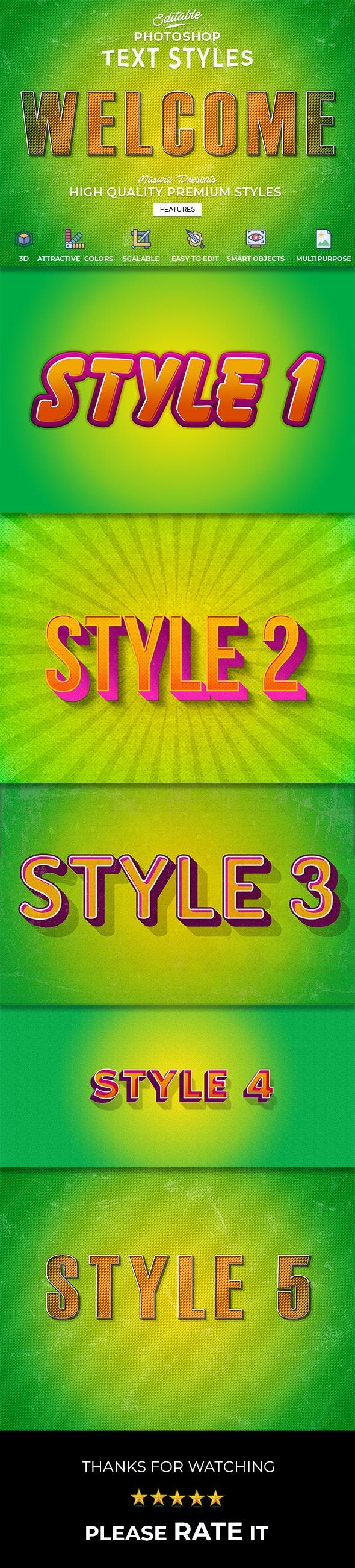 PEEG Text Styles Vol.1 - Text Effects Actions