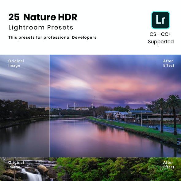 25 Nature HDR  Lightroom Presets