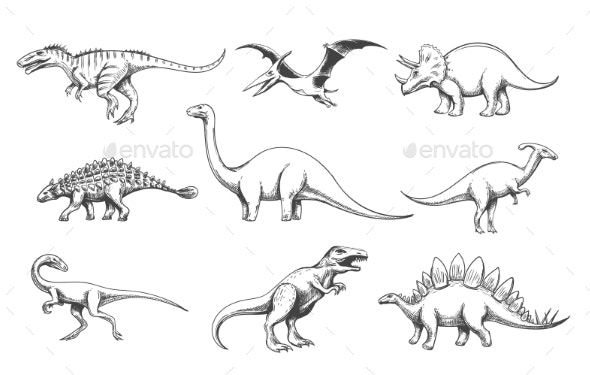 Dinosaur Predators Set - Animals Characters
