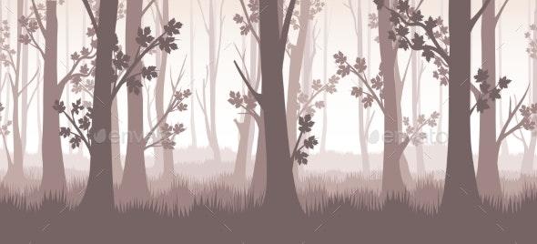 Forest Twilight Illustration - Landscapes Nature