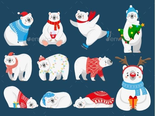 Christmas Polar Bears - Christmas Seasons/Holidays