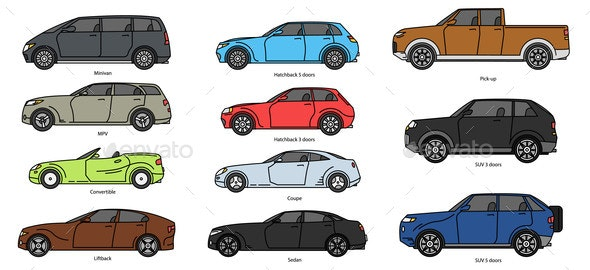 Car Body Style - Man-made Objects Objects