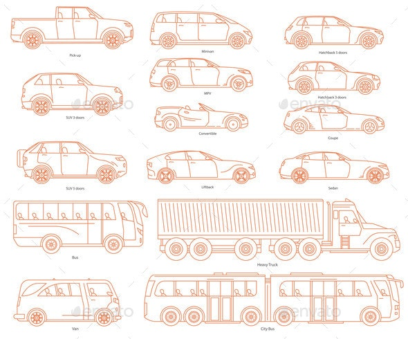 Car Body Style Public Transport and Passenger - Man-made Objects Objects