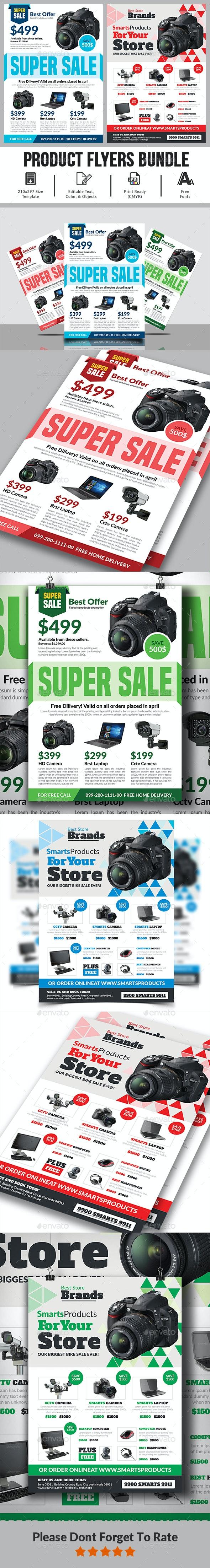 Product Flyer Bundle Templates - Commerce Flyers