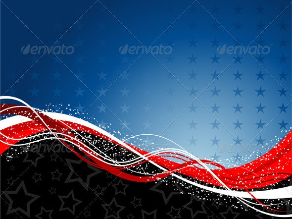 Patriotic background - Seasons/Holidays Conceptual