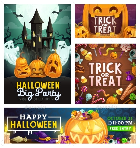 Halloween Monster Party Trick or Treat Candies - Halloween Seasons/Holidays