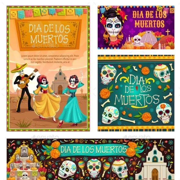 Day of Dead in Mexico Dia De Los Muertos Holiday