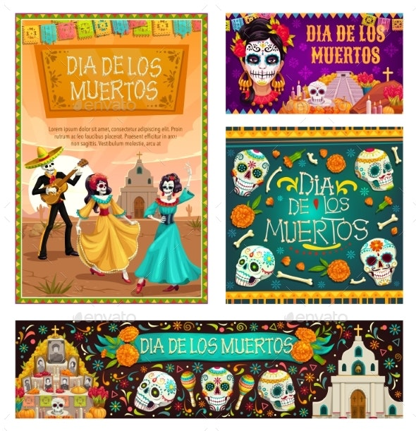 Day of Dead in Mexico Dia De Los Muertos Holiday - Miscellaneous Seasons/Holidays