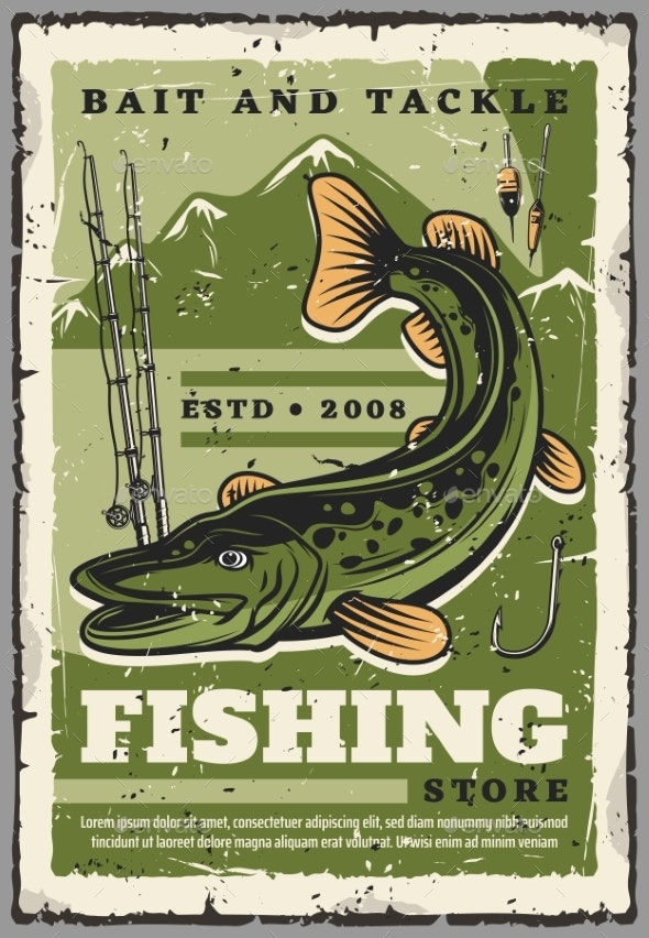 Fishing Store Fisher Baits and Fish Tackles - Sports/Activity Conceptual