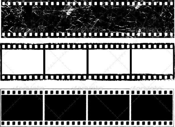 Grunge Film Strips - Backgrounds Decorative
