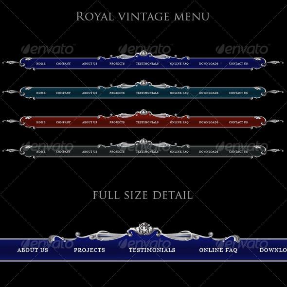 Luxury site menu