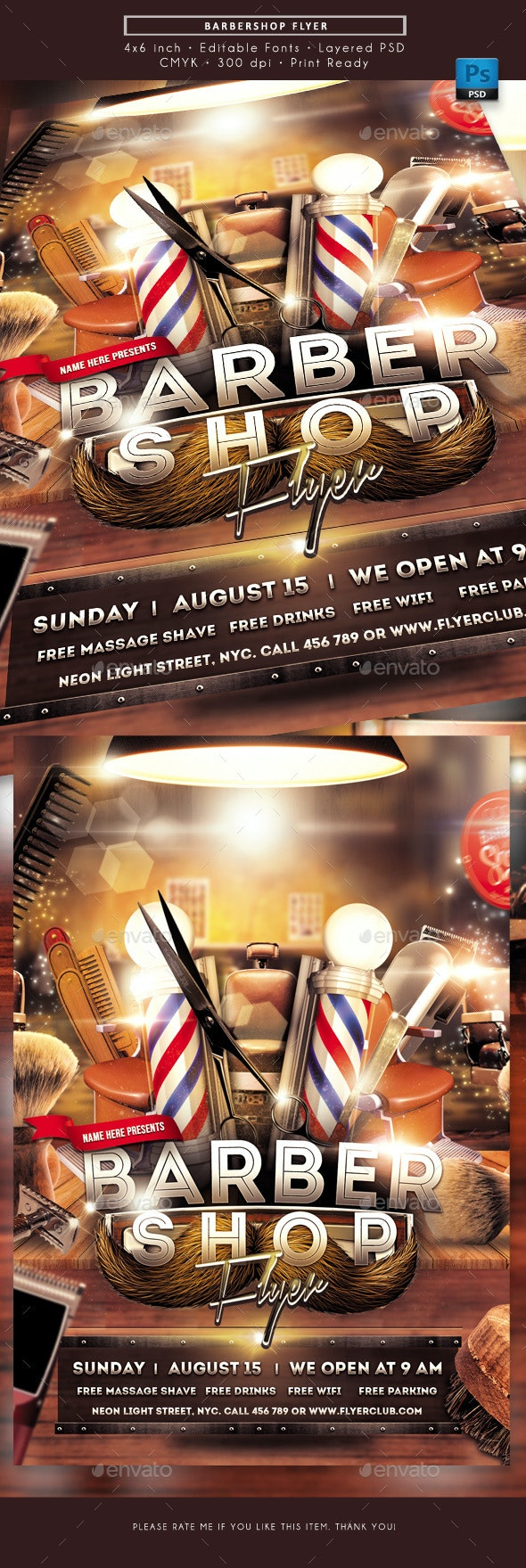 Barbershop Flyer - Miscellaneous Events