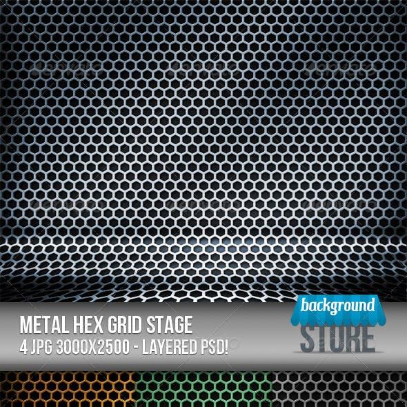 Metal Hex Grid Stage