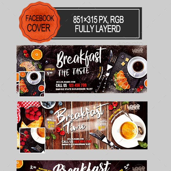 Breakfast Time Facebook Covers