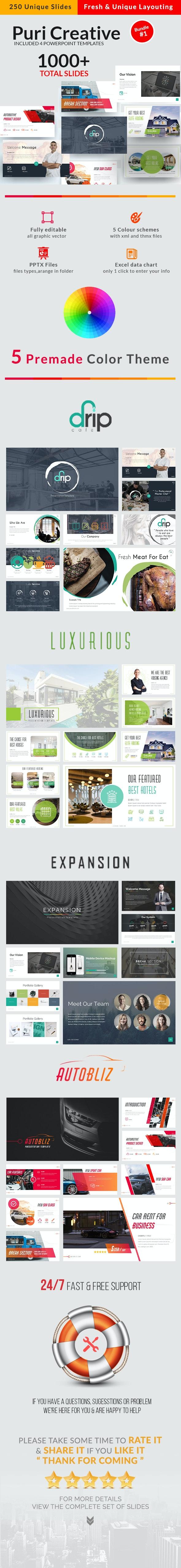 PuriCreative Powerpoint Bundle 1 - Business PowerPoint Templates