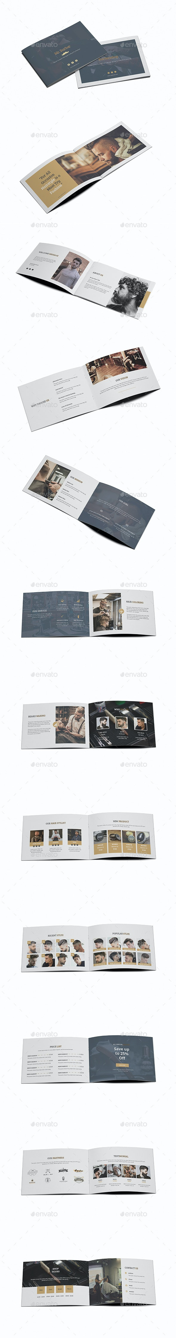 Mr.Barber Barbershop A5 Brochure Template - Brochures Print Templates