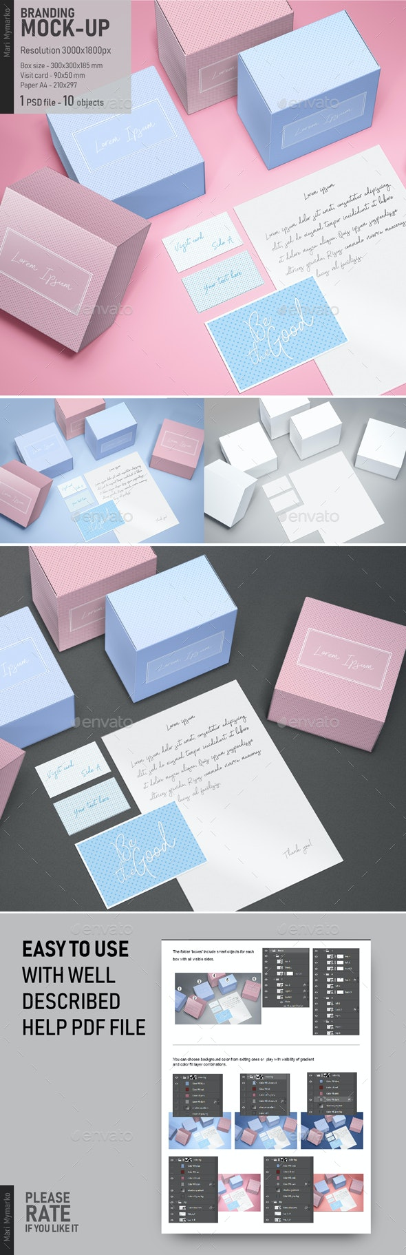 Branding Mock-up - Print Product Mock-Ups
