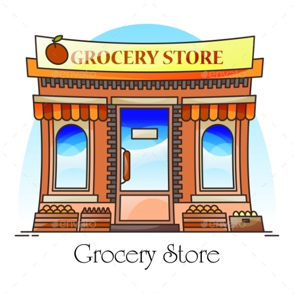 Grocery Shop or Natural Goods Store Food Market - Buildings Objects