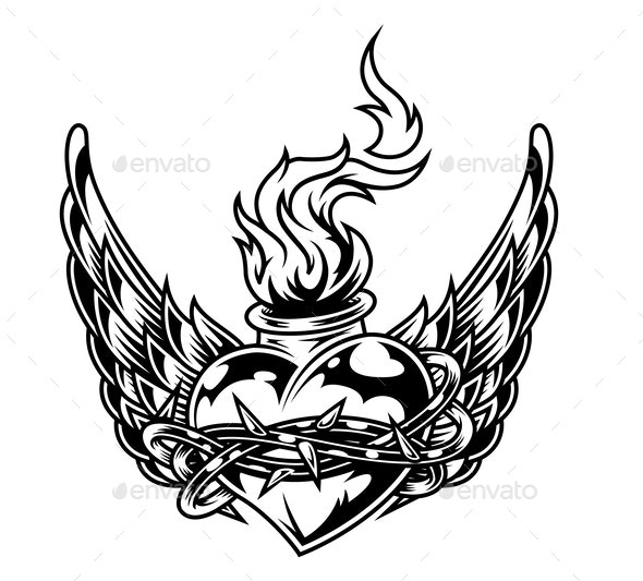 Fiery Heart - Miscellaneous Vectors