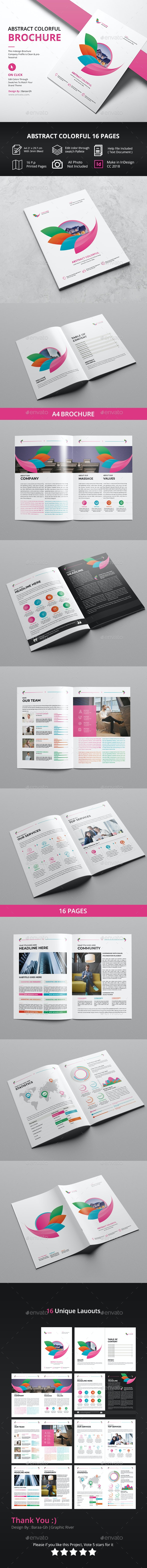Abstract Colorful Brochure - Corporate Brochures