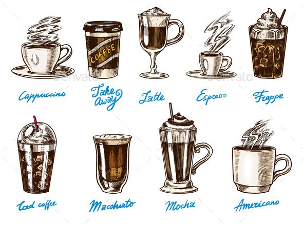 Coffee in Vintage Style - Miscellaneous Vectors