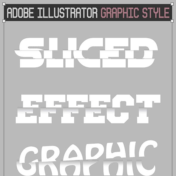 Sliced Text Effect Graphic Styles