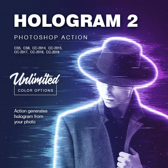 Hologram 2 - Photoshop Action