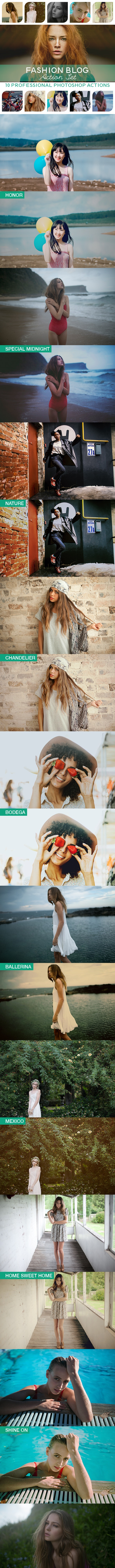 10 PRO Photoshop Actions Vol.I - Photo Effects Actions