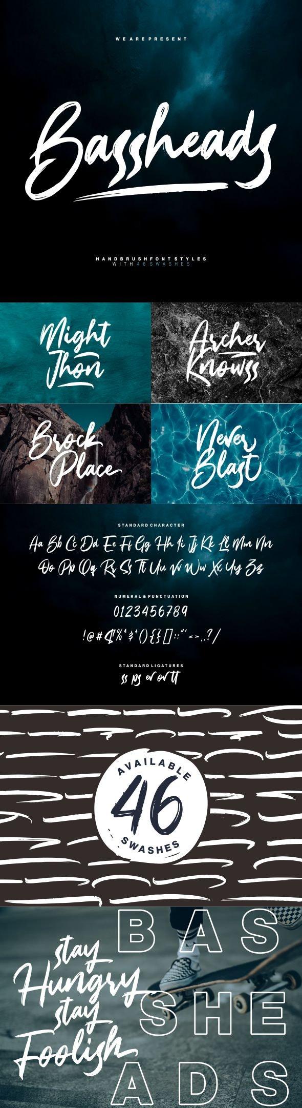 Bassheads - Hand-writing Script