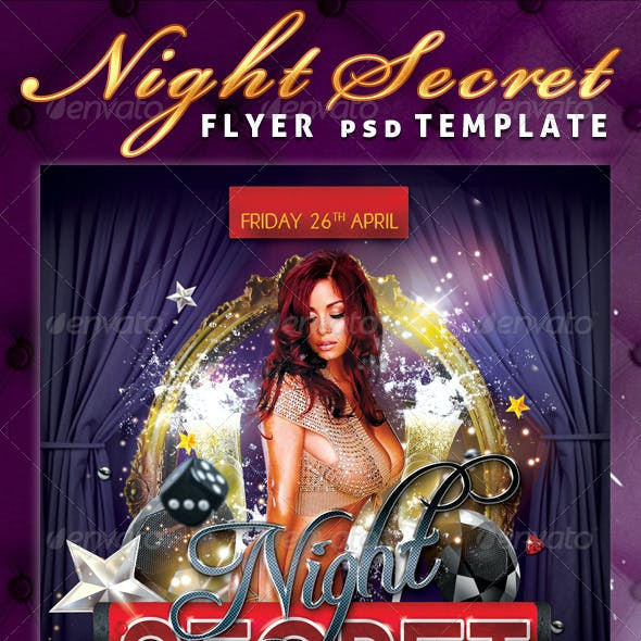 Night Secret Flyer PSD Template